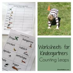 Worksheets for Kindergartners- Counting Leaps