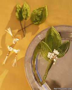 Beaded Boutonnieres