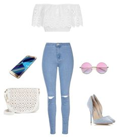 """frymezim i momentit"" by glea-jaho on Polyvore featuring Miguelina, Glamorous, Steve Madden, Under One Sky and Samsung"