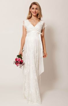 Mother & Kids Friendly Luxury Ivory Pregnancy Maternity Wedding Dresses Flower Court Great Gatsby Gown Gorgeous Robe De Mariee Femme Enceinte Clothes Great Varieties