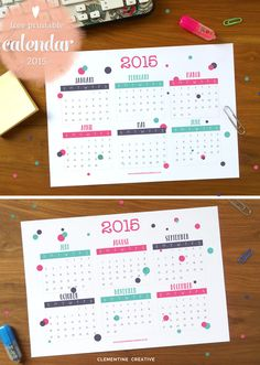 A new year brings a new opportunity to set goals, organize and make this year better then last year! So come snag these 10 Printables for a New Year! 2015 Calendar Printable, Free Printable Calendar, Printable Planner, Free Printables, Planner Pages, Life Planner, Weekly Planner, 2015 Planner, College Planner