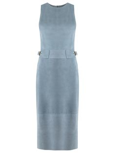 Nk Collection Vestido midi de chamois - Exclusivo Farfetch
