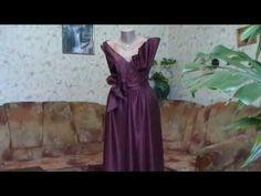 Магия вечернего платья. Как разметить детали выкройки на ткани.Как моделировать платье на основе чертежа. Как сметать выкроенные детали платья.