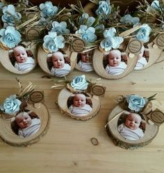 Discover thousands of images about Fotoğraflı Bebek Magnet - Baby Baptism, Baptism Party, Girl Christening, Baby Decor, Baby Shower Decorations, Baby Crafts, Diy And Crafts, Baby Shawer, Kids And Parenting