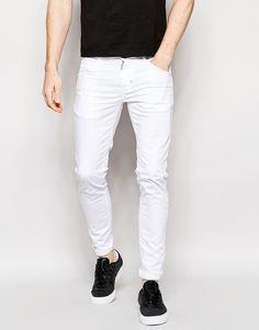 Image 1 of Antony Morato White Super Skinny Jeans