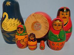 "Vintage Nesting Dolls Made in Belarus ""The Tale of The Tsar Saltan"" USSR 