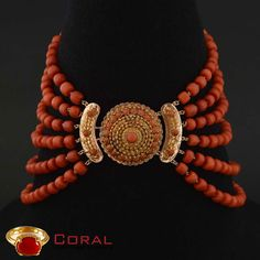 Stunning coral beads necklace