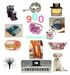 """""""900 Followers - Thankyou!"""" by alexxa-b ❤ liked on Polyvore featuring art"""