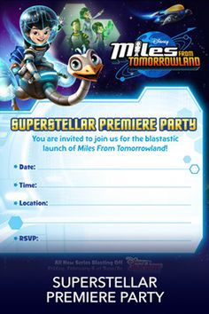 Invitations | Miles from Tomorrowland Free Printables & crafts | SKGaleana