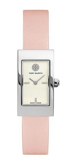 Valentine's Day Gifts: Tory Burch Pink Leather Buddy Signature Watch