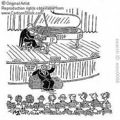 CartoonStock - Piano concerto for the deaf. Jazz Music, Piano Music, Good Music, Music Chords, Sheet Music, Classical Music Humor, Music Jokes, Music Humour, Funny Music