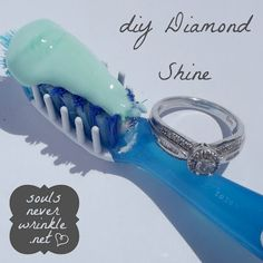 I always use toothpaste and a toothbrush to clean my rings! My rings always sparkle and shine after. The best ring cleaner in my book!