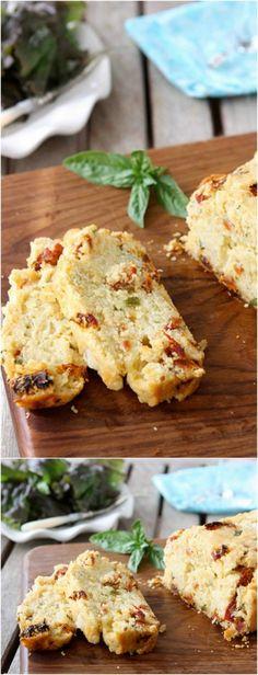 Caprese Olive Oil Bread with Sun-Dried Tomatoes, Bocconcini & Basil Recipe | cookincanuck.com