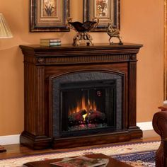 Saranac Cherry Electric Fireplace | Kirkland's
