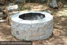 Classic Round Backyard DIY Paver Fire Pit Make A Fire Pit, Small Fire Pit, Modern Fire Pit, Diy Fire Pit, Fire Pit Backyard, Fun Backyard, Backyard Seating, Backyard Paradise, Backyard Lighting