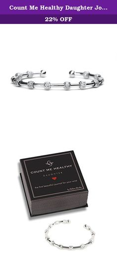 Count Me Healthy Daughter Journal Bracelet - Sterling Silver Plated. The first beautiful health journal for your wrist. A timeless bracelet to help your Daughter keep track of her goals and accomplishments. Count goals like glasses of water, fruit and vegetable servings, vitamins, accomplishments, service hours, study hours and more by sliding the hand-etched beads. Beads stay in place unless moved by the wearer. Fits most wrist sizes. Once on, gently squeeze or stretch the cuff for a...