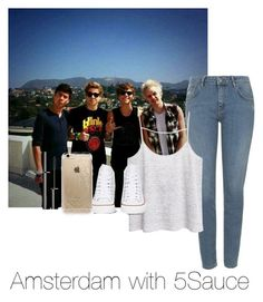 """""""Amsterdam with 5Sauce"""" by autumnfarmer on Polyvore featuring Topshop, MANGO, Converse, Rifle Paper Co and SUQQU"""