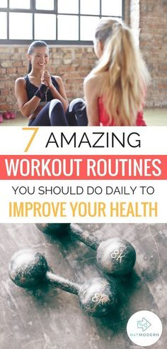 Finding a workout routine for your busy life can be difficult. Here we give you 7 easy workout routines to help you maintain a healthy lifestyle. Workout Routine For Men, Workout Regimen, Workout For Beginners, Workout Plans, Fitness Tips, Health Fitness, Workout Fitness, Fitness Routines, Fitness Plan
