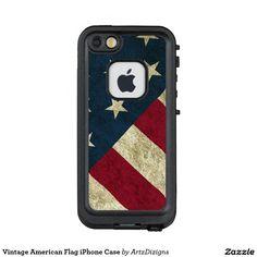Vintage American Flag iPhone Case  Lifeproof Fre iPhone 5 Case  http://www.zazzle.com/artzdizigns?rf=238365382999242687 #vintage #Americanflag #starsandstripes #iPhone5case #lifeprooffre #zazzle