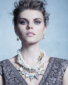 Lustre+Multi-Strand+Statement+Necklace+&+Lustre+Glass-Pearl+Earrings+by+Lulu+Frost+at+Neiman+Marcus.