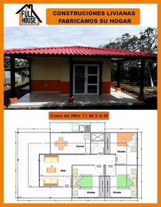 Full House Prefabricados Bungalow House Design, Dream House Plans, Sweet Home, Floor Plans, Rustic, How To Plan, Architecture, Arquitetura, Mediterranean Homes Plans