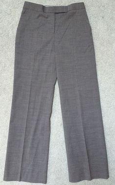 J Crew Women's Grey Stretch Wool Blend Dress Career Slacks Pants Trousers 2 | eBay