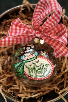 SNOWMAN FRAME Personalized handpainted ornament by DAKRIsinclair, $20.00
