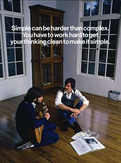 Simple can be harder than complex: You have to work hard to get your thinking clean to make it simple. But it's worth it in the end because once you get there, you can move mountains. (Steve Jobs)  www.3d0.it real people, digital inside