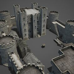 Medieval Castle Model available on Turbo Squid, the world's leading provider of digital models for visualization, films, television, and games. Fantasy City, Fantasy Castle, Fantasy Map, Fantasy Art Landscapes, Fantasy Landscape, Model Castle, Toy Castle, Minecraft Castle, Minecraft Ideas