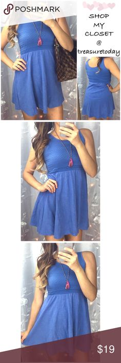 Blue Baby Doll Dress Beautiful casual dress. In great condition. Fits size medium best. Feel fee to ask any questions , I'm here to help 🎉 Offers welcome 🎉 Bundle 2 or more items and save %10 instantly💰 All pictures are taken by me. Old Navy Dresses Mini