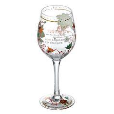 Wine Glasses - Good Friends Wine Glass: Glassware Gifts A26539 #FineGifts…