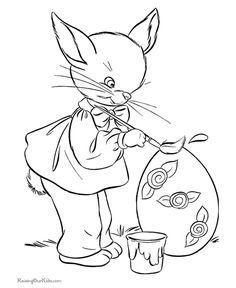 bunny coloring book pages