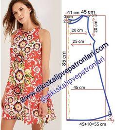 Elbise Kalıbı 38 / 40 beden (M) . Desteklemek i… Dress Pattern size (M). toTo support, please comment & press the begen button. Support to support us, please like and comment❤the Dress Sewing Patterns, Sewing Patterns Free, Free Sewing, Clothing Patterns, Summer Dress Patterns, Pattern Sewing, Fashion Sewing, Fashion Fabric, Diy Fashion