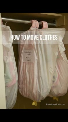 How to pack clothes when your moving!! Such a good idea!