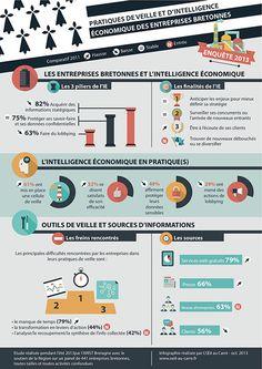 Pratiques de veille et d'intelligence économique des entreprises bretonnes - Novembre 2013 http://oeil-au-carre.fr/2013/11/05/infographie-entreprises-bretagne-veille-edition-2013/