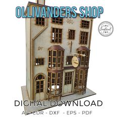 Ollivanders wand Shop. Digital Download for laser cut | Etsy Microsoft Word, Cnc Router, Silhouette Cameo, Home Decoracion, Darth Vader, Laser Cut Files, Laser Cutting, Cutting Files, Wands