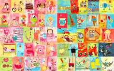 Favorite Things Alphabet on Canvas