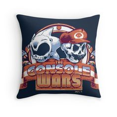 The Console Wars Throw Pillow