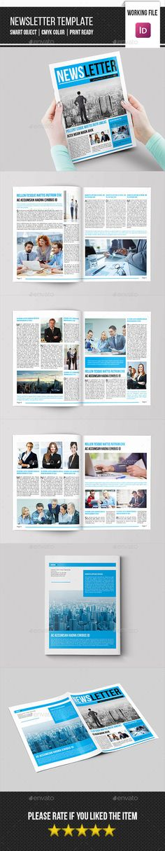 Newsletter For Corporate Business (8 Pages) Corporate business - company newsletter template free