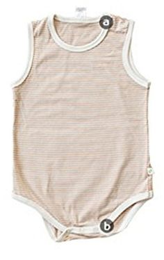 8c39ac9d845 Organic Shop 100 Organic Cotton Baby Onesie Bodysuit StripedSleeveless 612M     Read more reviews of the product by visiting the link on the image.