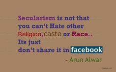 secularism in Facebook  - Facebook quote