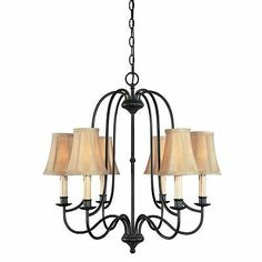 World Imports Brondy Collection 6-Light Aged Ebony Chandelier