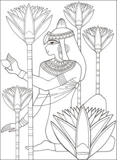 Egyptain Patterns to Color | Ancient Egypt (Designs for Coloring) | Additional photo (inside page)