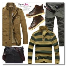 """38. Newchic"" by andrea2andare ❤ liked on Polyvore featuring men's fashion and menswear"