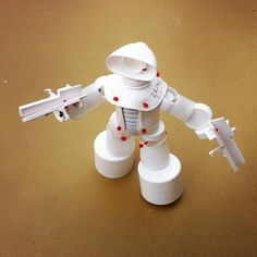 Craft Projects for Kids. Recycled Earth Day ROBOTS from Plastic Trash