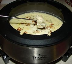 Feta Cheese Fondue with Walnuts and Parsley