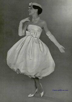 1958 - Yves Saint Laurent for Christian Dior Couture Bubble Dress