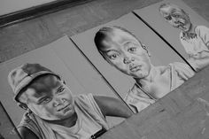 portrait drawings on cardboard My Childhood, Growing Up, Africa, Portrait, Drawings, Sketches, Headshot Photography, Sketch, Drawing