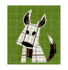 cute plaid puppy!  could be made with my Accuquilt tumbler die.