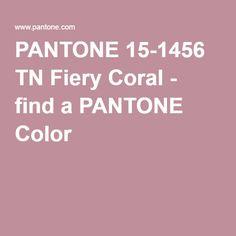 PANTONE 15-1456 TN Fiery Coral - find a PANTONE Color
